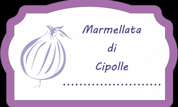 Etichette stampabili – Marmellata di cipolle