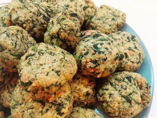 Polpette di spinaci e ricotta al forno