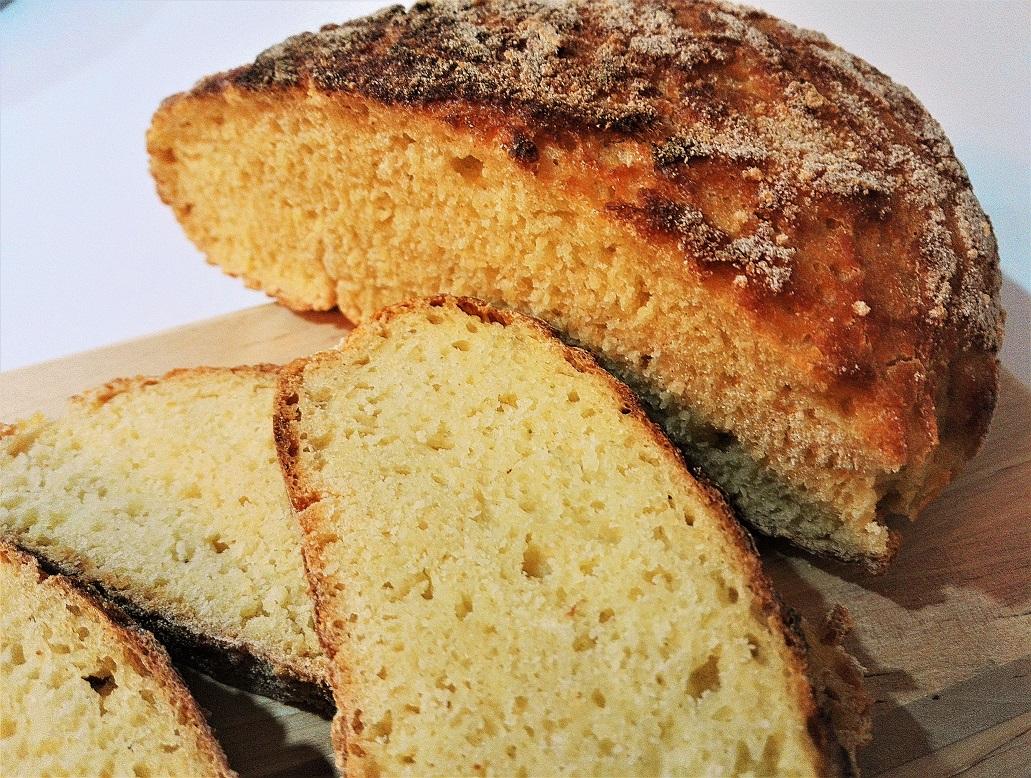 Pane di semola senza impasto lievitato 8 ore con 1g di lievito