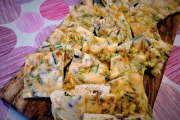 Frittata di fiori di zucca al forno