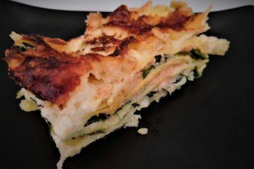 Lasagne con salmone e spinacino