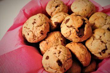 Biscotti da colazione con pepite di cioccolato