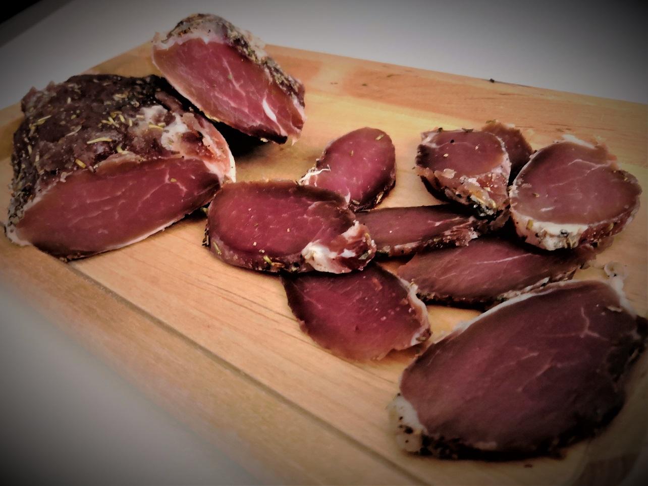 Filetto di maiale marinato a secco