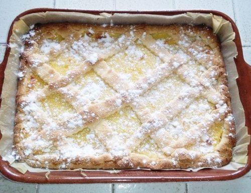 Crostata crema e pinoli (con e senza glutine)