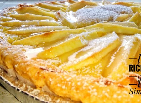 Crostata mele e crema pasticcera (con e senza glutine)