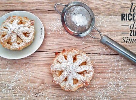 Crostatine di frolla montata crema e mele (con e senza glutine)