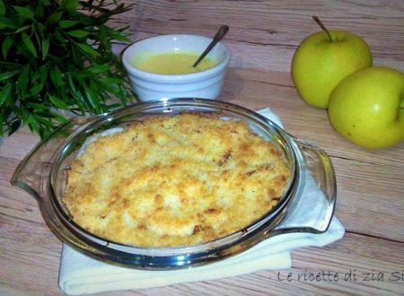 Crumble di mele e crema custard ricetta originale inglese (con e senza glutine)