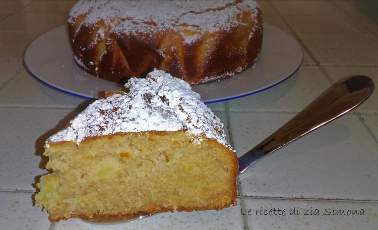 torta ricotta mele e cioccolato bianco