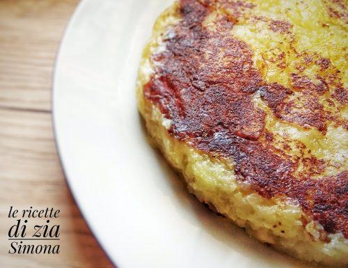 Tortino di patate ai formaggi in padella