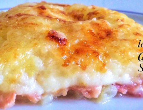 Tortino di patate cremoso ai formaggi e prosciutto crudo