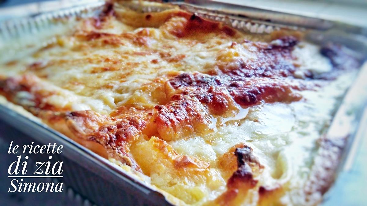 Ricetta Delle Lasagne Ai Quattro Formaggi.Lasagne Bianche Ai 4 Formaggi Le Ricette Di Zia Simona