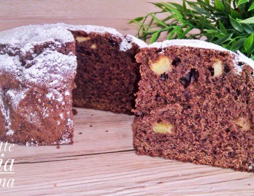 Torta mele e cioccolato ricetta classica e senza glutine