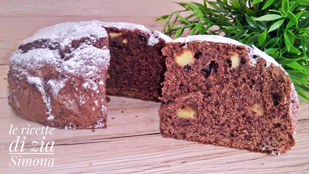 torta cioccolato e mele