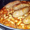 salsiccia e fagioli al pesto di verdure