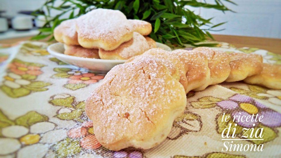 biscotti alla panna con  3 ingredienti versione classica e senza glutine