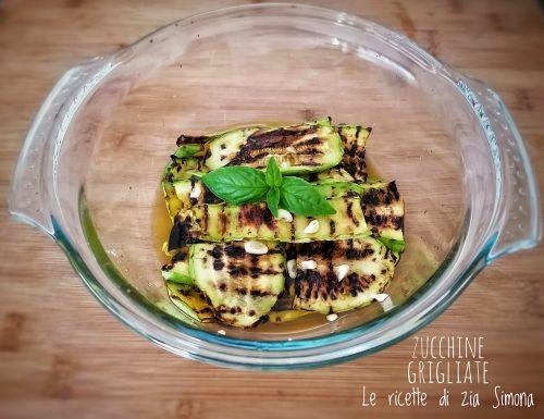 Zucchine grigliate leggere