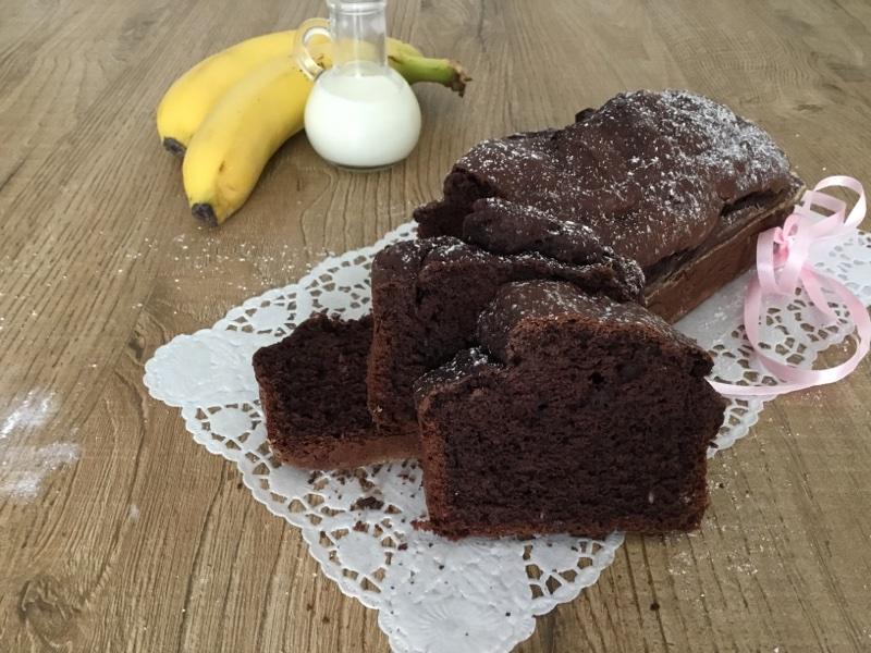 Plumcake al cacao e banane
