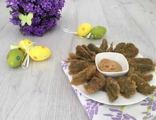 Carciofi fritti con maionese al balsamico