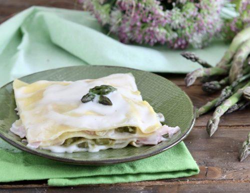 Lasagne agli asparagi prosciutto cotto e mozzarella