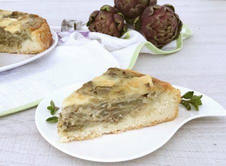 Torta salata di carciofi patate e brie