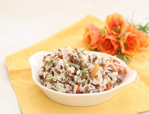 Insalata di riso basmati e lenticchie