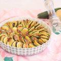 Patate e zucchine con pancetta croccante