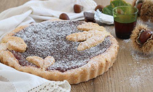 Crostata con crema di castagne cioccolato e rhum