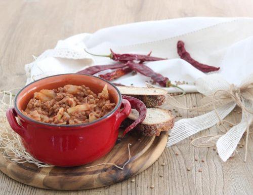Zuppa piccante di lenticchie e finocchi