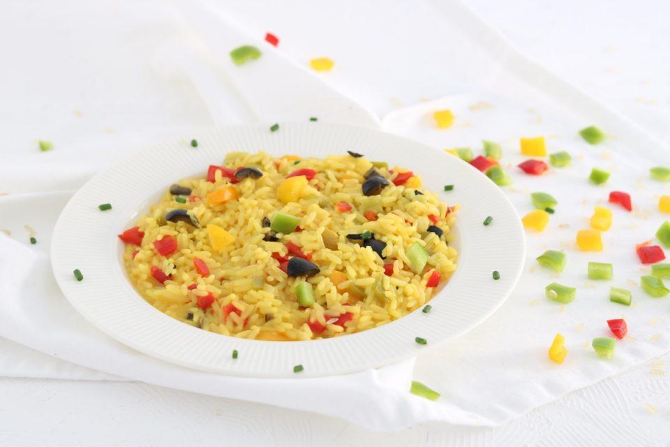 risotto allo zafferano con peperoni