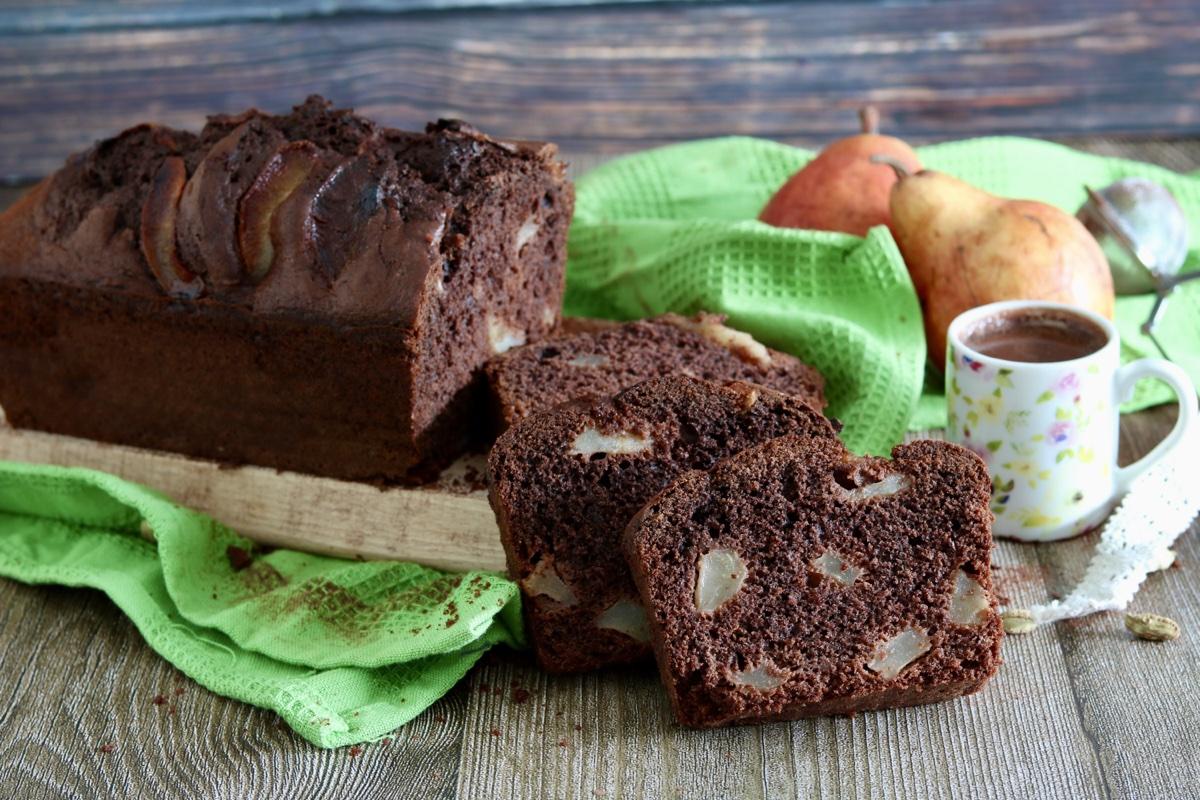 plumcake cioccolato pere cardamomo