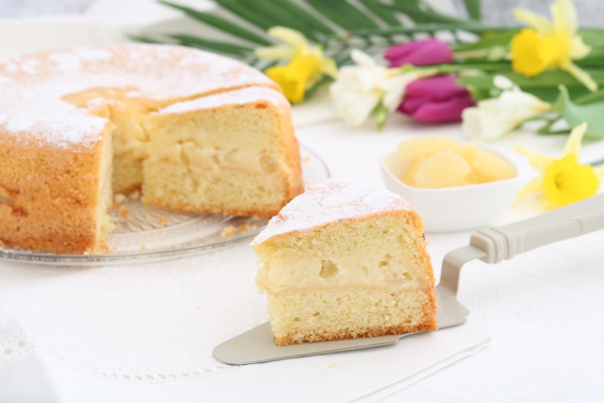 torta versata limone crema ananas