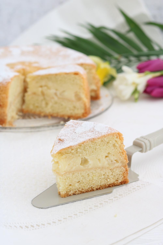 torta versata crema ananas