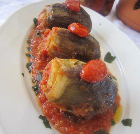 Melanzane ripiene alla Siciliana – Ricetta vegan vegetariana