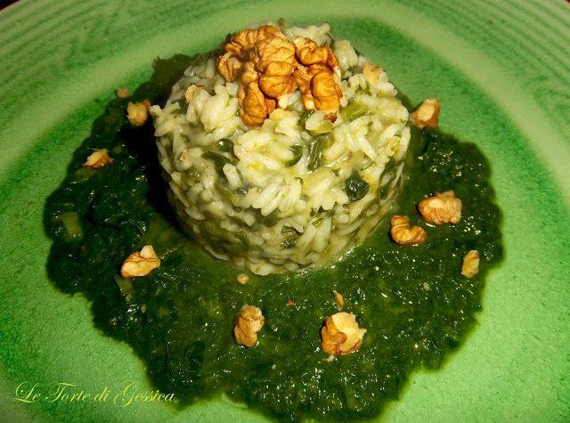 Risotto cremoso spinaci e noci