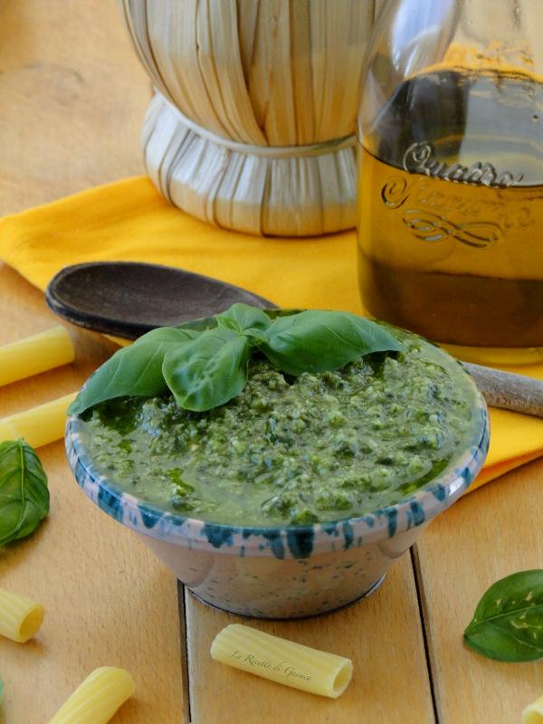 pesto di basilico senza aglio bimby
