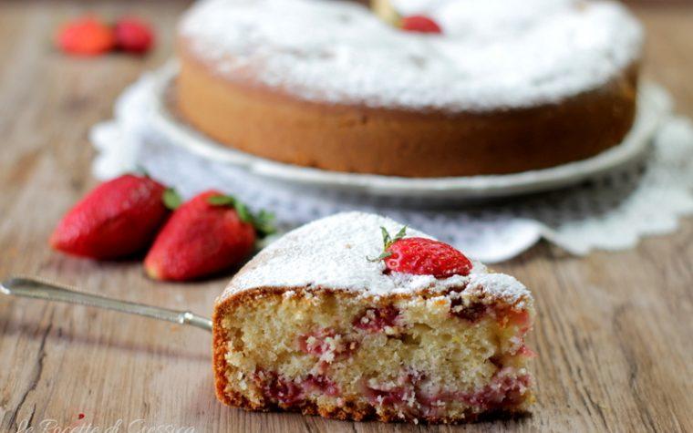 Torta con fragole fresche – Anche Bimby