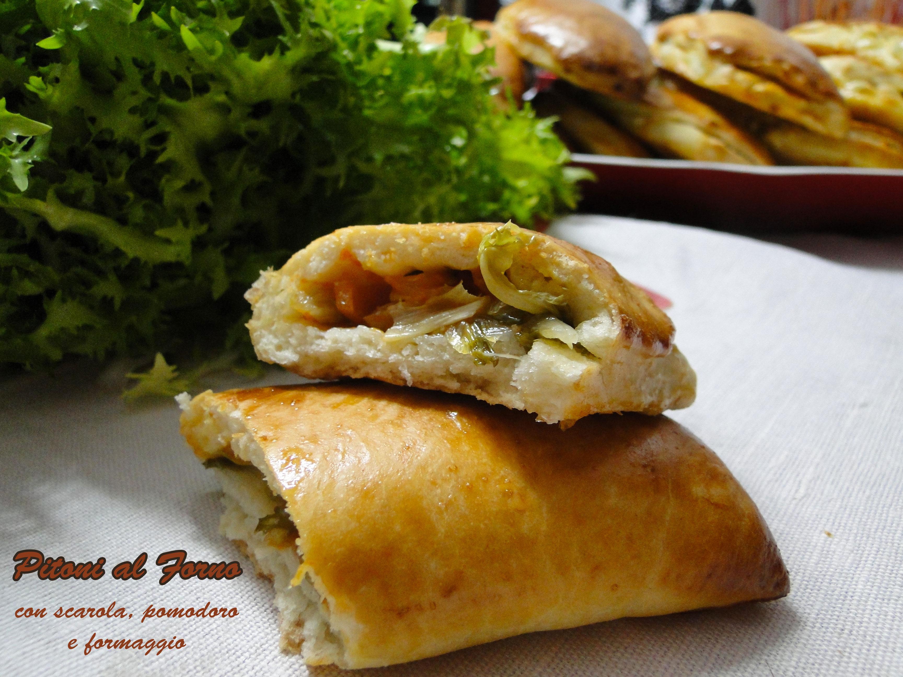 Pitoni alla Messinese al forno - Calzoni con scarola