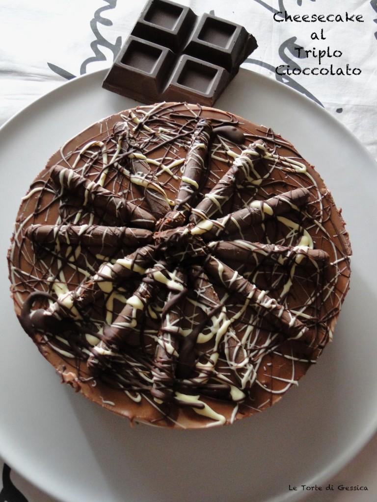cheese cake al triplo cioccolato bimby