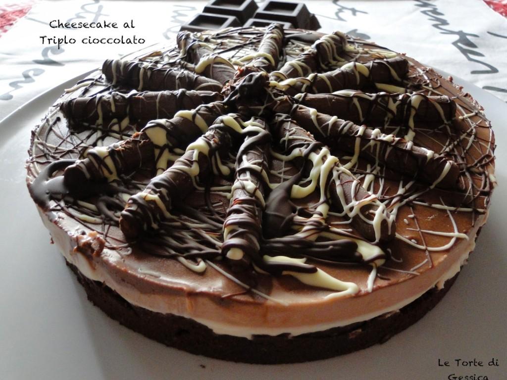cheesecake al triplo cioccolato bimby