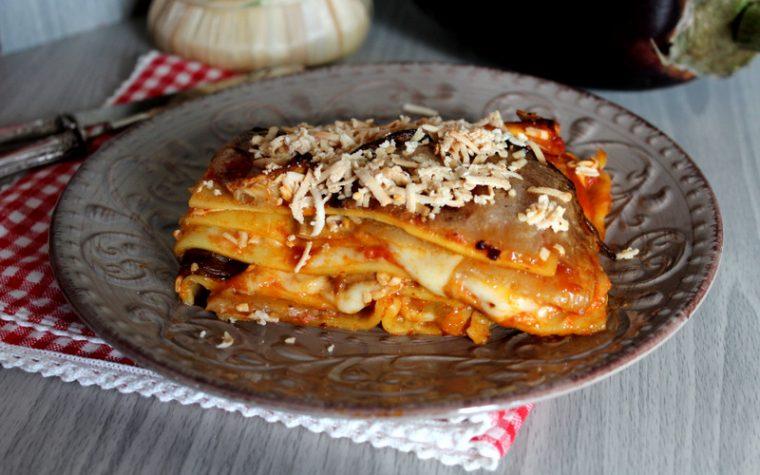 Lasagne alla Norma -Pasta al forno Siciliana con Melanzane e ricotta