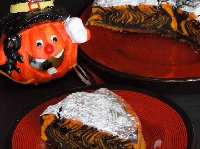 Torta Zebrata di Halloween – Ricetta con e senza Bimby