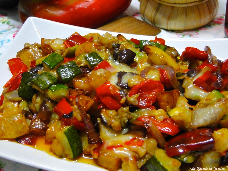 Verdure filanti in padella le ricette di gessica for Ricette con verdure