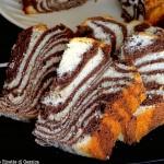 Zebra Chiffon Cake ( Ciambellone Americano) - anche Bimby