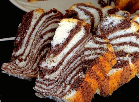 Zebra Chiffon Cake ( Ciambellone Americano) – anche Bimby