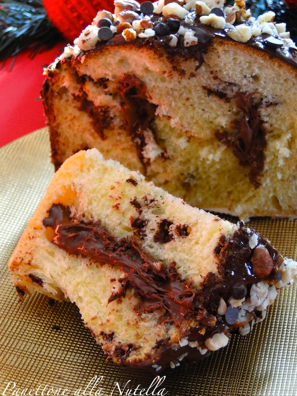 Panettone alla nutella ricetta con e senza bimby le - Bagno nella nutella ...