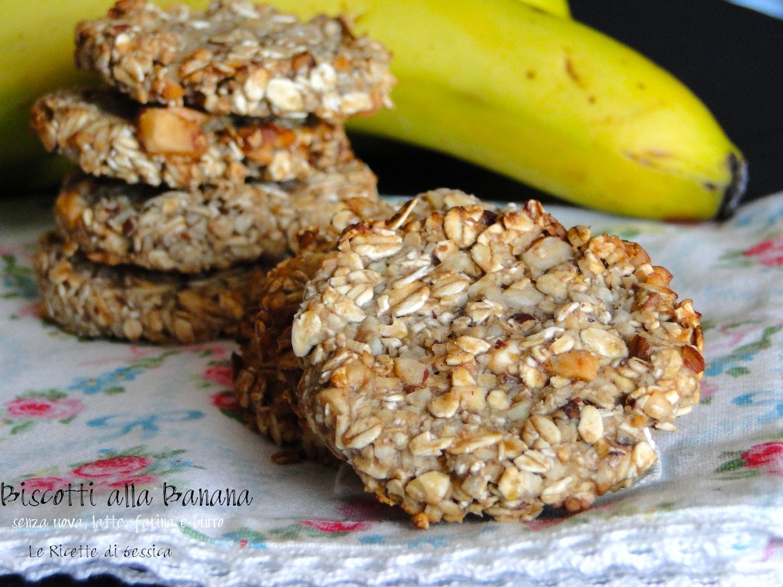spesso Biscotti alla Banana - Senza uova, burro, farina e latte | Le  WO08