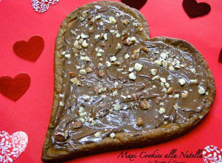 Maxi Cookies alla Nutella – con e senza Bimby