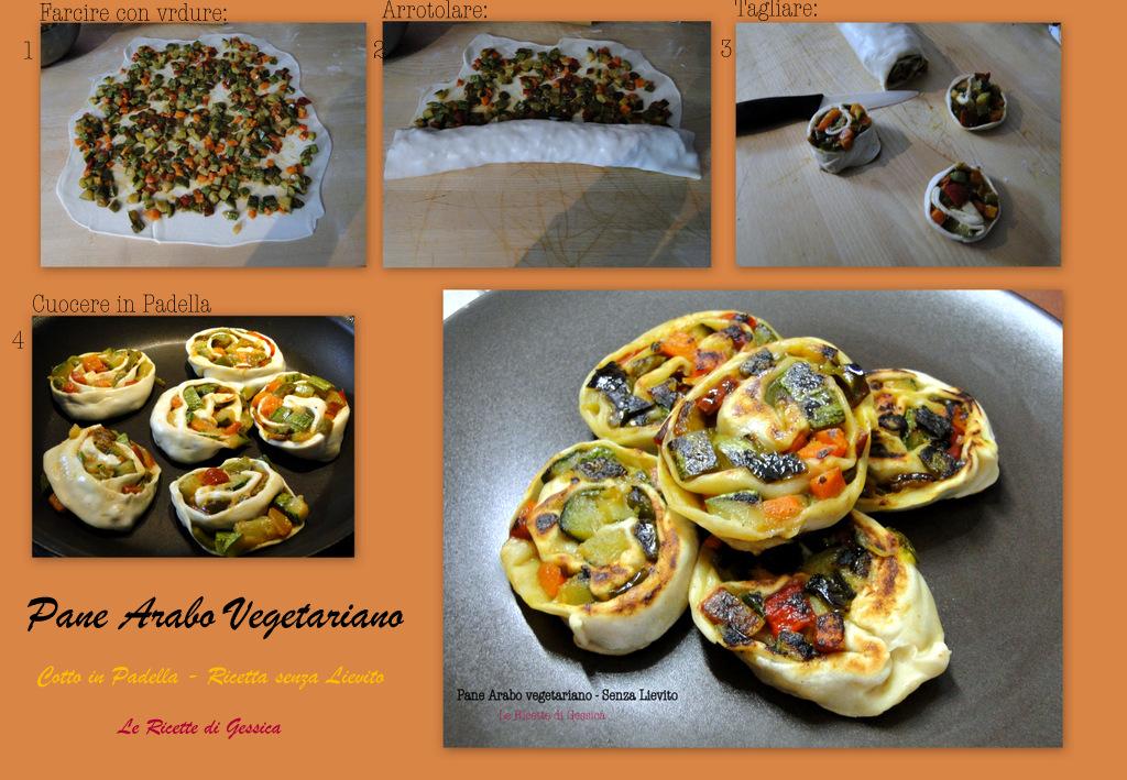 Pane Arabo  Vegetariano in padella - Senza Lievito
