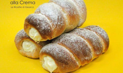Torciglioni Siciliani al forno ripieni di crema - Anche Bimby