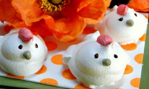 Pulcini di meringa o Galline - Ricetta dolce di Pasqua